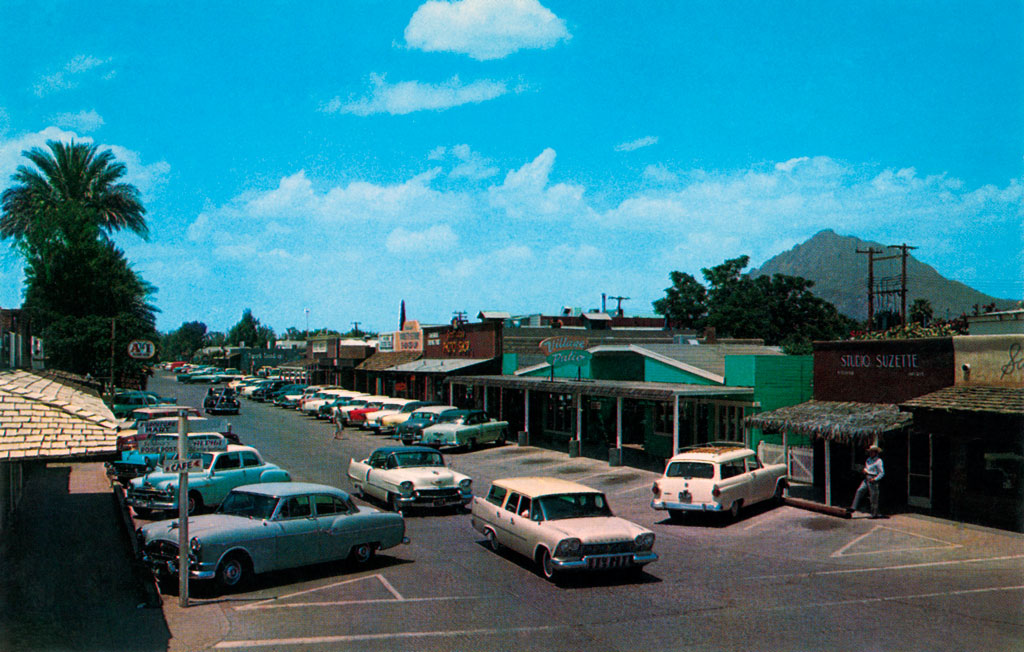 East Main Street In Scottsdale Arizona 1957 Plymouth