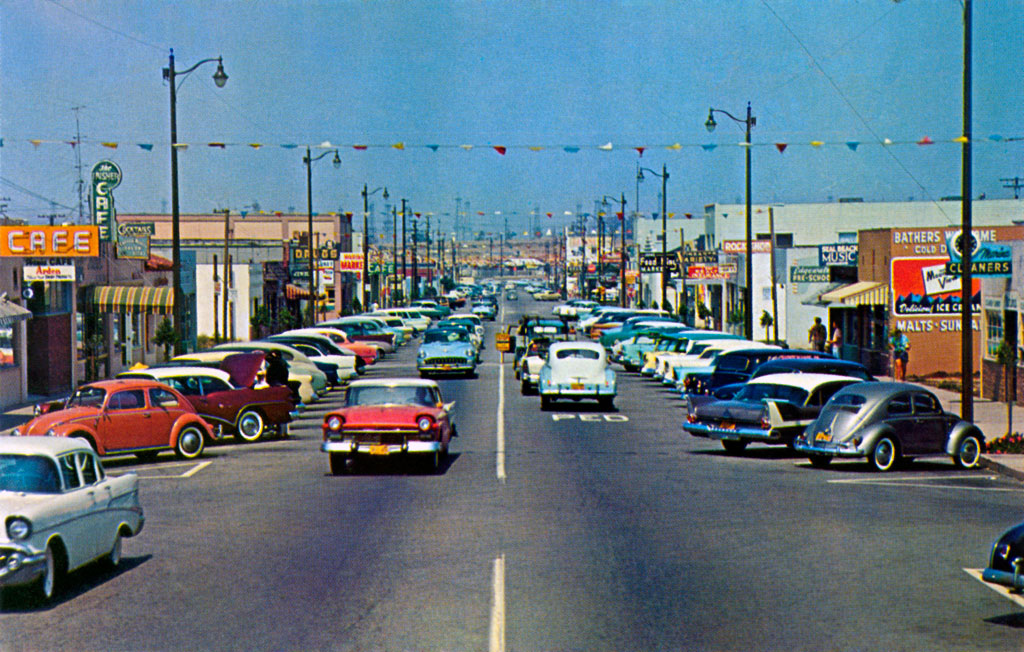 1958 Plymouth Belvedere at Main Street in Seal Beach, California