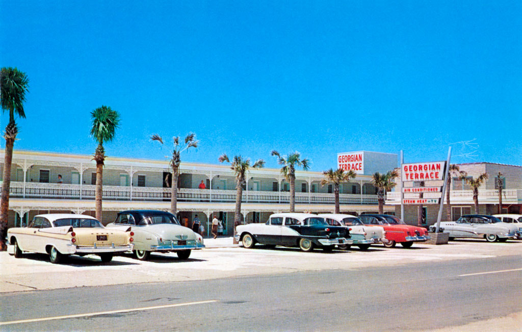 Georgian Terrace Motel In Panama City Beach Florida 1957