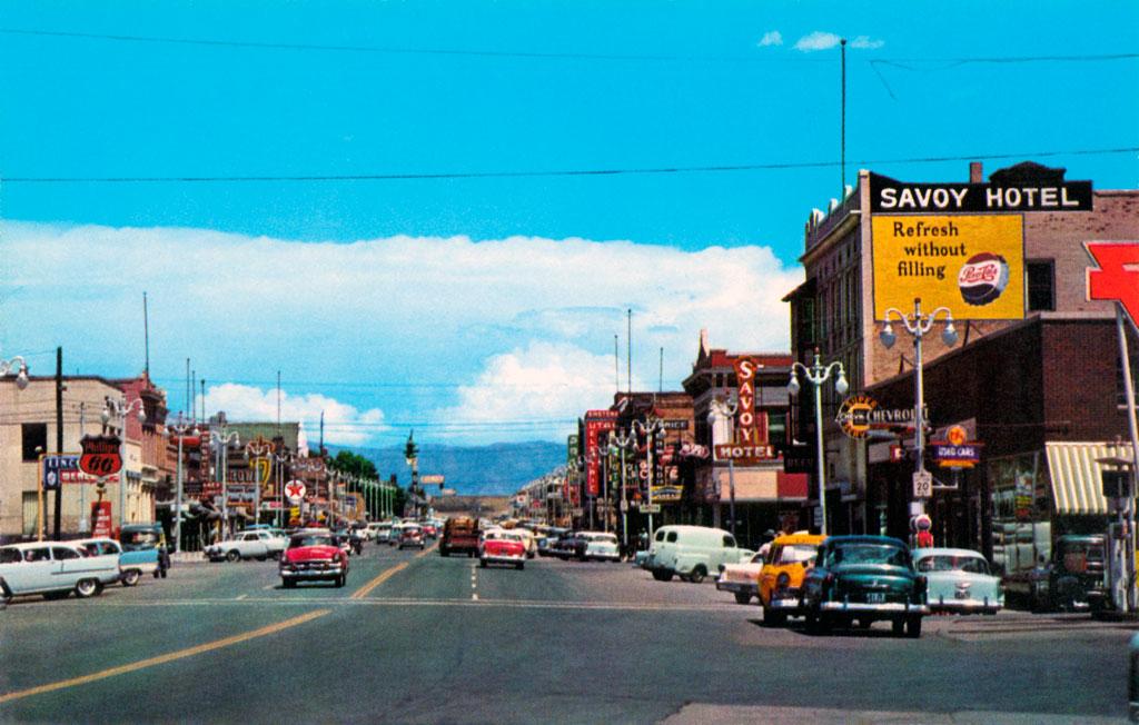 Main Street In Price Utah 1957 Desoto