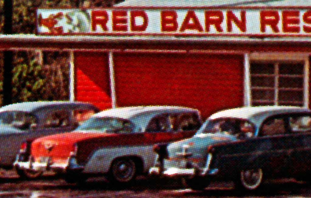 Red Barn Restaurant in Lake City, Florida 1955 DeSoto