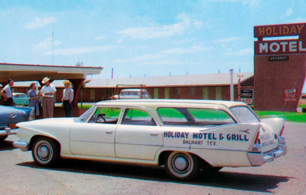Holiday Motel In Dalhart Texas 1960 Plymouth Station Wagon